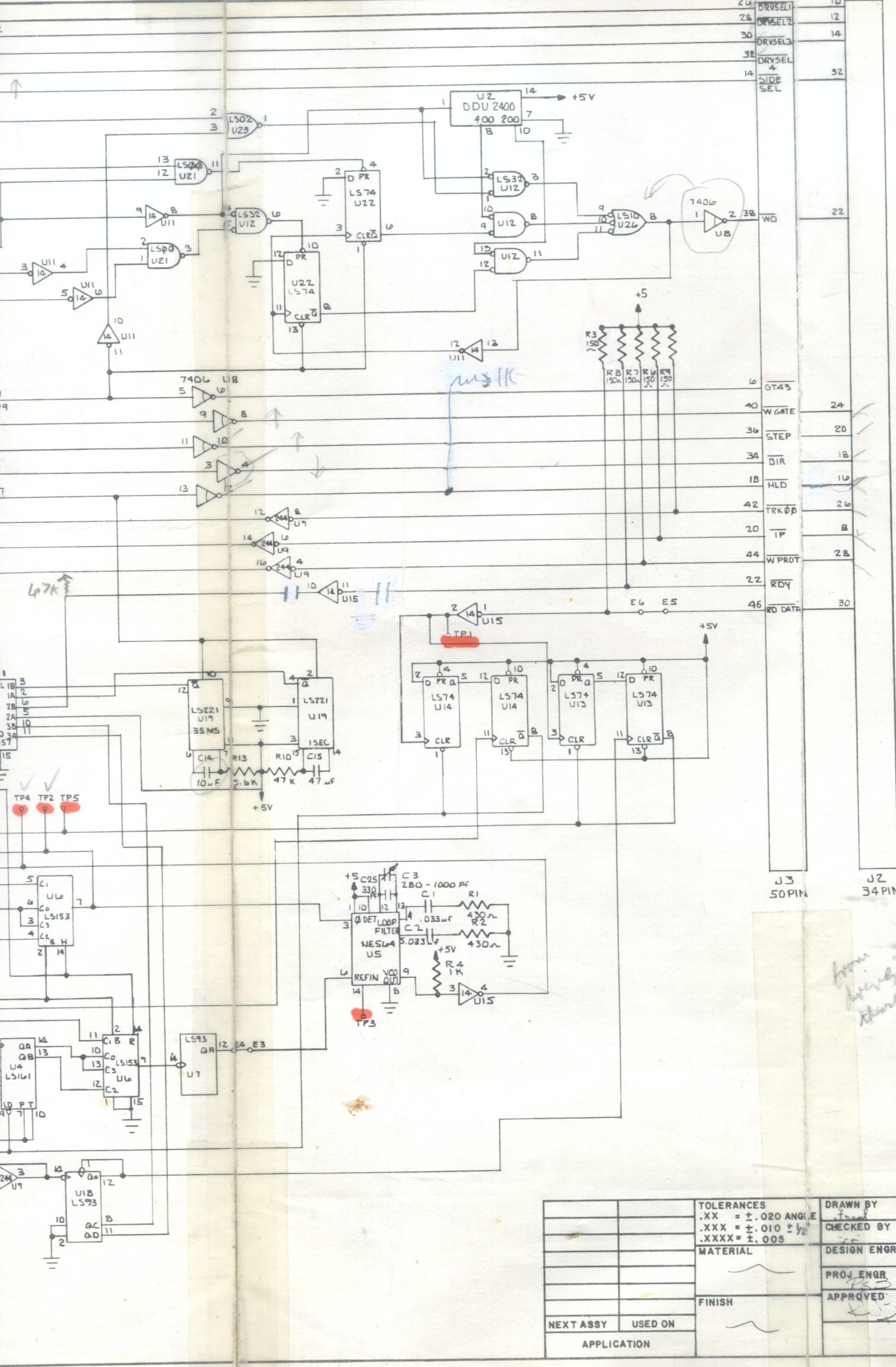 S100 Computers Wiring Diagram An Early Versafloppy Ii Schematic Can Be Seen Here And