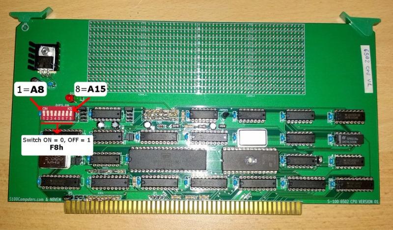 S100 Computers - 6502 CPU Board